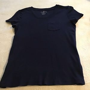Talbots PETITE Navy Tee with pocket